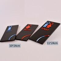 Porta Segno Indicatore Piastra per Wc Sala di Riposo Lavanderia Acrilico Qualità Creative Design Donna Uomo 3D 10X24 CM personalizzato