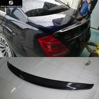 W221 S600 S65 Carbon fiber Car rear spoiler wings for Mercedes Benz W221 S500 06 09