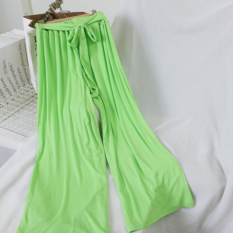 women's summer clothing wide leg casual pants candy color