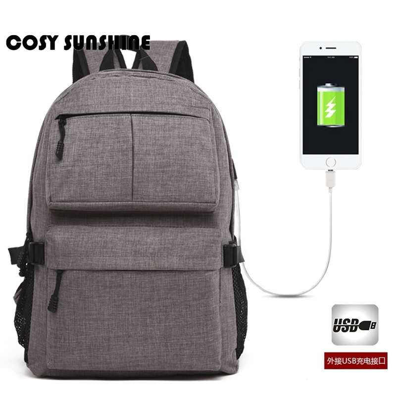 Resor ryggsäck manlig stor kapacitet dator väska USB laddning mode ... bdd83c9be20f3