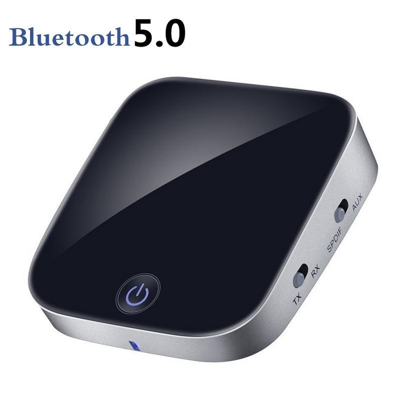 Transmetteur Bluetooth 5.0 avec émetteur récepteur Bluetooth Fiber optique adaptateur Audio sans fil optique numérique 2-en-1