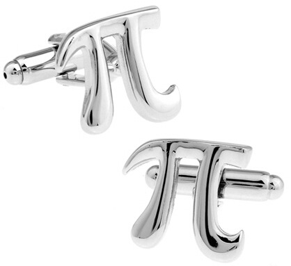Pi Classic Maths Symbol Cufflinks For Mens French Shirt Cuff