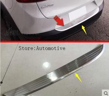 Автомобильный Стайлинг снаружи из нержавеющей стали задний бампер для Mazda CX-3 CX3 2016 2017 2018 Накладка на порог багажника аксессуары
