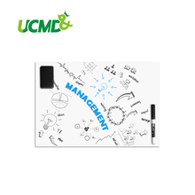 Flexible Magnetic Labels Dry Earse Magnetic White Board Magnetic Sheet for Ferrous Metal Surface 60 X 40 Cm x 0.5 mm thick