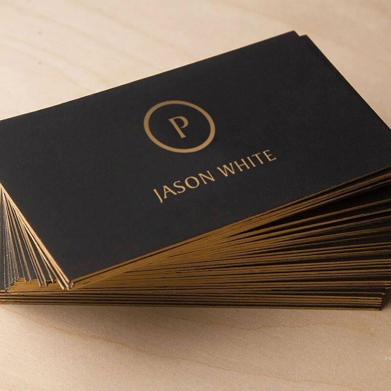 Kundenspezifische Visitenkarte Black Gold Hochwertigen