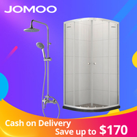 JOMOO 304 stainless steel hinges and handles/8mm toughened glass /bathroom shower rooms /shower cabins/shower enclosures