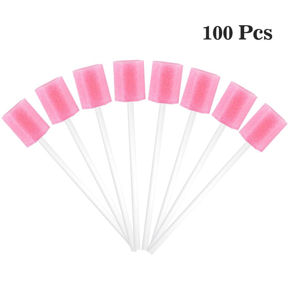100pcs/Set Disposable Oral Swabsticks Unflavored Oral Care Sponge Swabs Foam Sputum Sponge Stick For Oral Medical Use