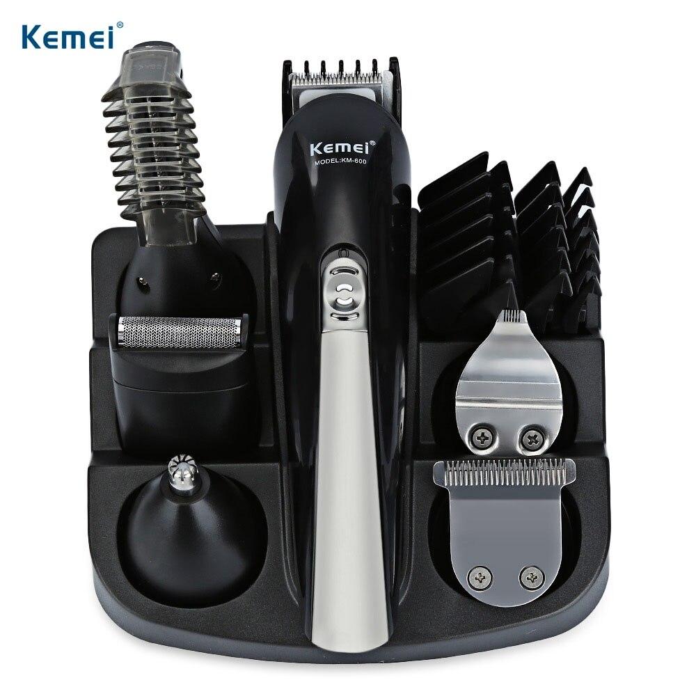 Kemei 5 en 1 cabeza reemplazable profesional cortapelos Afeitadora eléctrica hombres de corte cortadores de cuidado Personal de la familia KM-600
