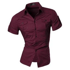 Image 5 - Jeansian męska lato z krótkim rękawem Casual ubranie koszule moda stylowe 8360