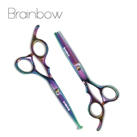 Brainbow 1pair 6 Inch Hair Scissors Cutting Thinning Scissor Hairdressing Shears Hair Accessories Care Styling Tools