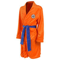 Adult Bathrobe Dragon Ball Cosplay Kakarotto Bath Robe Sleepwear Pattern Plush Robe High Quality For Adult