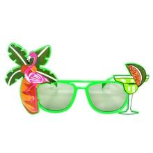 Hawaii Beach Sunglasses Lemon Coconut Tree Flamingo Tropical Party Glasses for adult 14.7*8cm Color Random