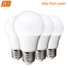 [MingBen] 4 pcs LED Bulb Lamp E27 5W 7W 9W 12W 15W AC 220V 230V No Filcker High Brightness Cold White Warm White Ship From Spain