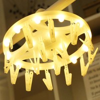 12Led Fairy White Yellow Card Photo Clip Battery Operated String Lights LED Decoration For Christmas Garland