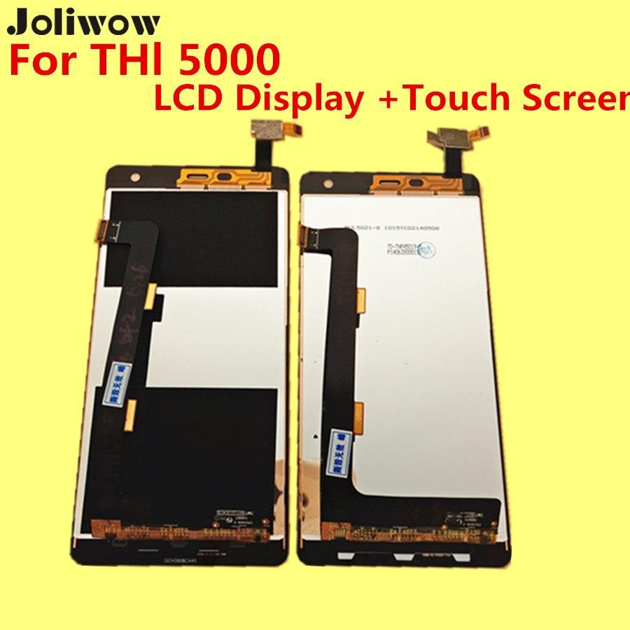 imágenes para PARA THL 5000 LCD Display + Touch Screen + Herramientas Reemplazo Digitalizador Asamblea Accesorios Para El Teléfono