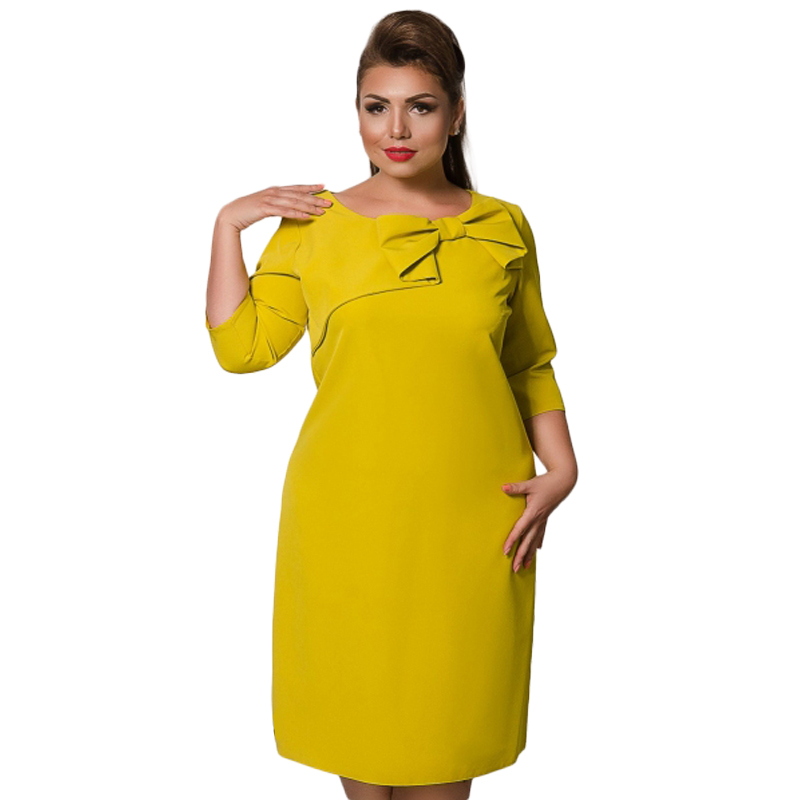2018 Spring Summer Dress Bodycon Bandage Party Dress Plus Size Women Clothing Bow Big Size 5XL 6XL Elegant Women Dress Vestidos