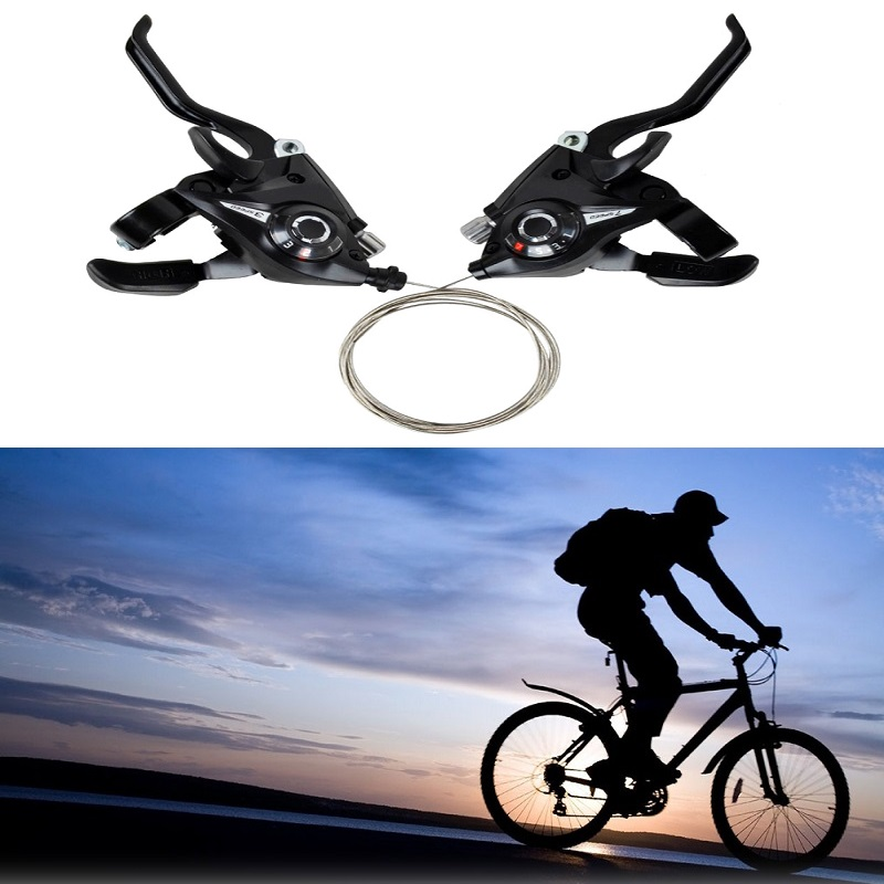 Mountain MTB Road Bike Bicycle 3x7 21 Speed Shifter Shift Brake Lever Levers Set