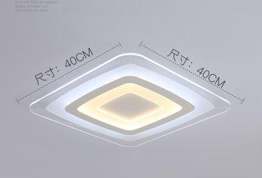 Lampe de salon simple moderne rectangulaire chambre lampe atmosphère maison ultra-mince créatif led plafonnier éclairage paquet