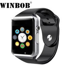 WINBOB A1 Smartwatch Relógio Inteligente Com Câmera Passometer Chamada Do Cartão SIM Para Xiaomi Huawei Telefone Android Melhor Do Que GT08 DZ09