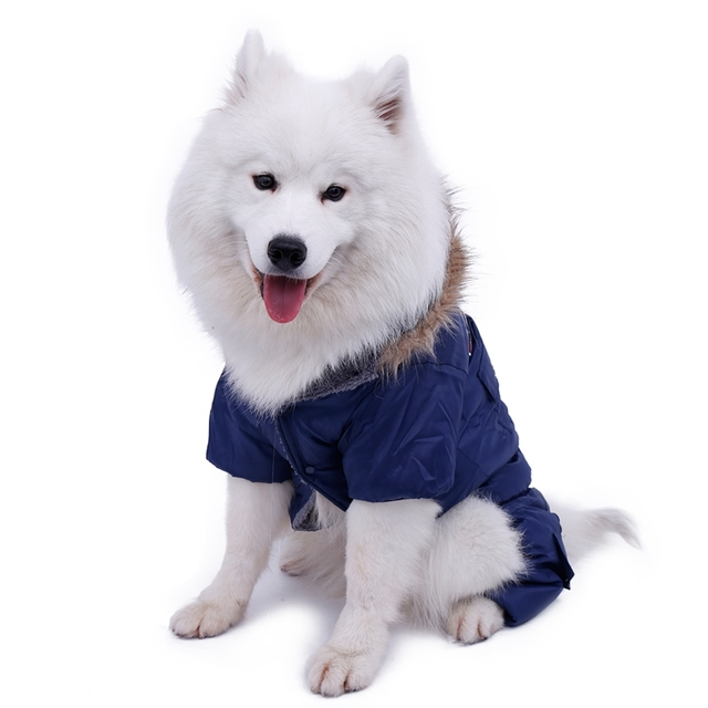 Hot Winter Warm Thick For Large Small Dog Pet Clothes Padded Hoodie Jumpsuit Pants Apparel XS-5XL Hot New Arrival  Free Shipping 4