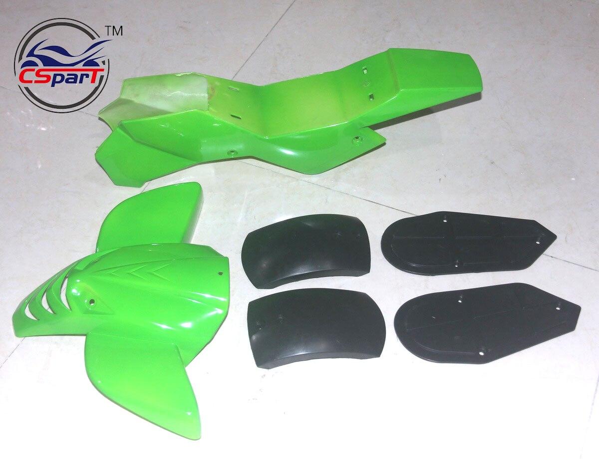 Пластиковый обтекатель комплект бамперов плита гвардии Крышка для мини-Мото четырехъядерный ATV велосипед 47cc 49см