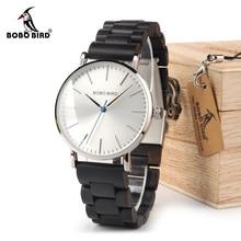 בובו ציפור שעון גברים relogio masculino עץ להקת שעונים איש לפשט קוורץ שעונים ביאן kol saati OEM זרוק חינם