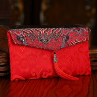 1pcs Chinese Wedding Cloth Red Packets Gift Envelopes Money Bag