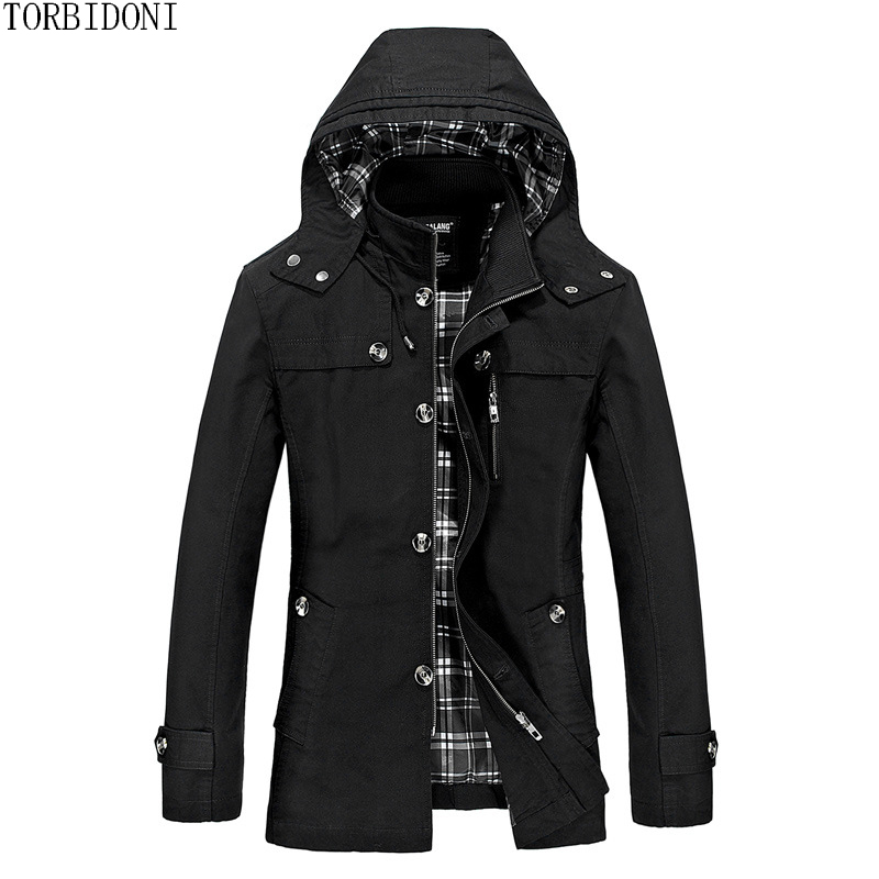 Men Autumn Casual Hooded Jacket Brand Slim Jaqueta Masculina Jacket and Coat Stand Collar Male Jacket Outerwear Veste Homme 5XL