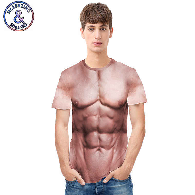 ae035b996302 Chic Muscle Round Neck Masculine Six Pack Abs T-Shirt Unisex Funny Muscle  Tee Shirt