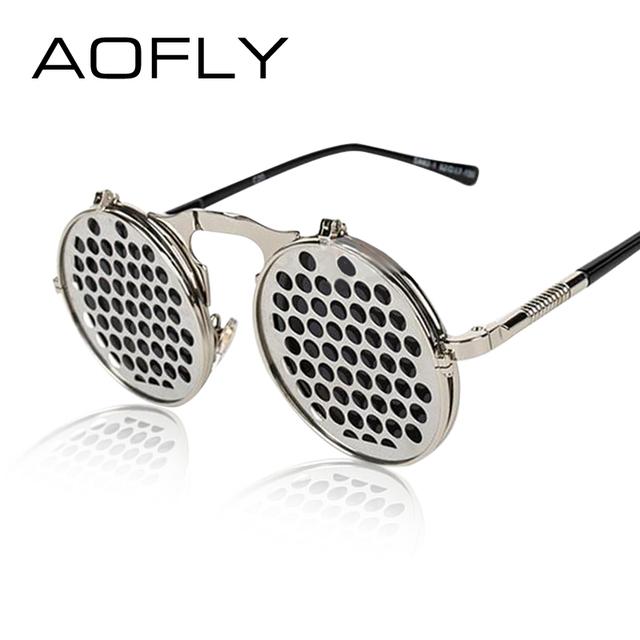 Steam Punk Gótico de La Vendimia clamshell clamshell personalidad gafas de sol gafas para los hombres y mujeres de metal punky gafas de Sol 14 Estilos
