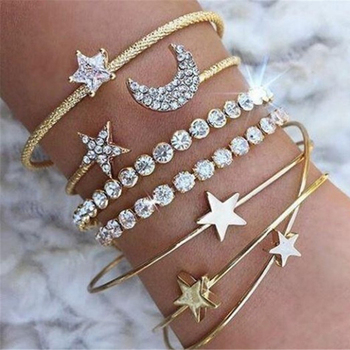Moon Star Heart Bracelet