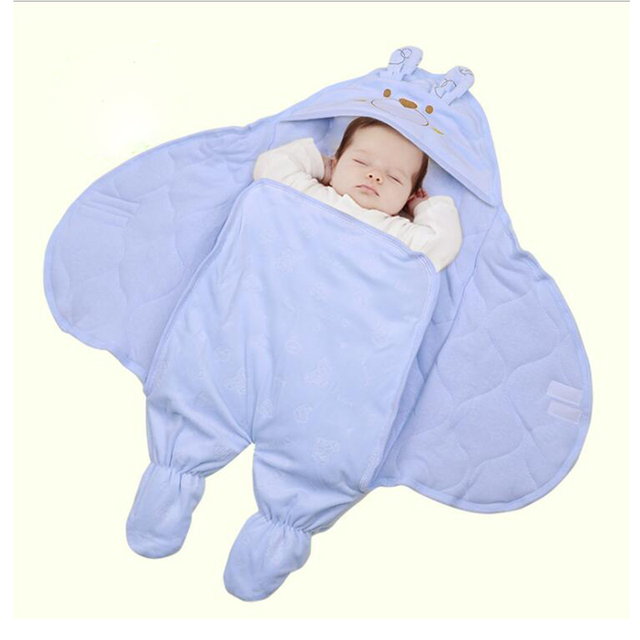 New Arrival Cute Baby Sleeping Bags Velvet Cotton Winter Baby Sleep Sack Warm Baby Blanket Swaddle Sleepsacks