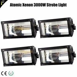 Disco białe światło 4 DMX 512 kanał atomowy 3000 zestaw światła stroboskopowe 5600K Strobe Flood Spotlight koncert Blinder xenon 3000w w Oświetlenie sceniczne od Lampy i oświetlenie na