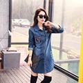 Mulheres jaqueta jeans curta tops primavera outono longo manga do casaco denim rasgado para as mulheres vintage clothing c67801 chaquetas mujer