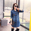 Women Jeans Jacket Short Tops  Spring Autumn Long Sleeve Denim Coat Vintage Ripped For Women Clothing chaquetas mujer C67801
