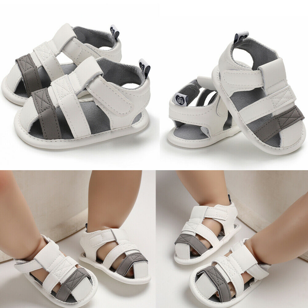 Newborn Infant Toddler Baby Kid Boys Girls Soft Sole White Anti-slip Sandal Causal Newest Fashion Shoes Imcute 0-18M