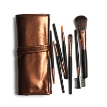 Sale! High Quality 7 Makeup Brush Set Kit 5 Color Choices Leather Bag Portable Make up Brushes
