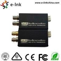 Single Mode Single Fiber LC Connector 20km Tally loop out Mini HD SDI Video Fiber Converter with SFP