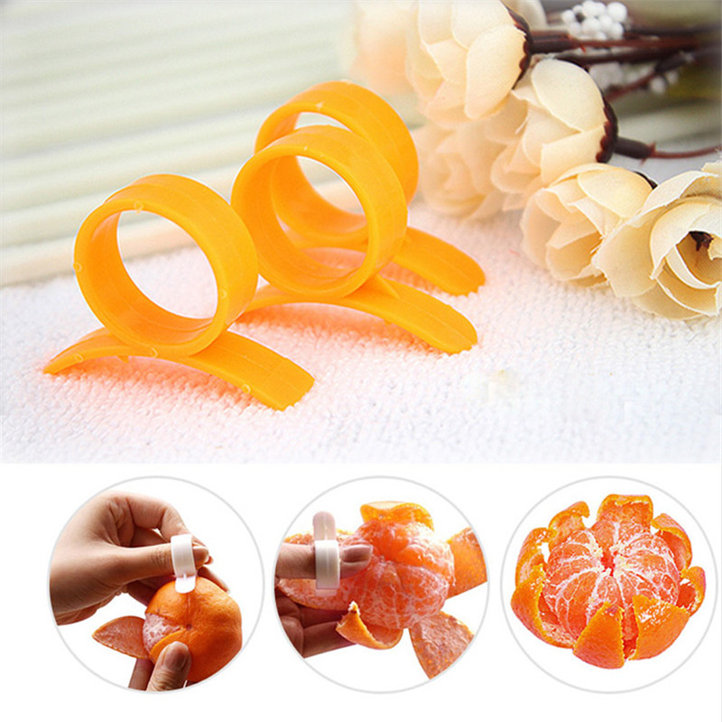 Fruit-Tool Kitchen-Gadgets Peeler Orange Finger-Type Plastic Creative With Ring Cleverly