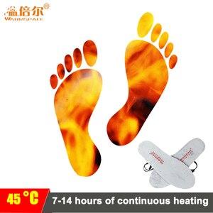 Image 2 - Warmspace النعال ساخنة قابلة للشحن 3800mAh أقدام الدافئة بطانة حذاء الحرارية الكهربائية القدم الشتاء تزلج النعال ساخنة في الهواء الطلق الرياضية