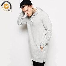 Neueste streetwear clothing herren longline hoodie übergroße pullover hip hop lange hoodie männer seitlichem reißverschluss hoodie kostenloser versand