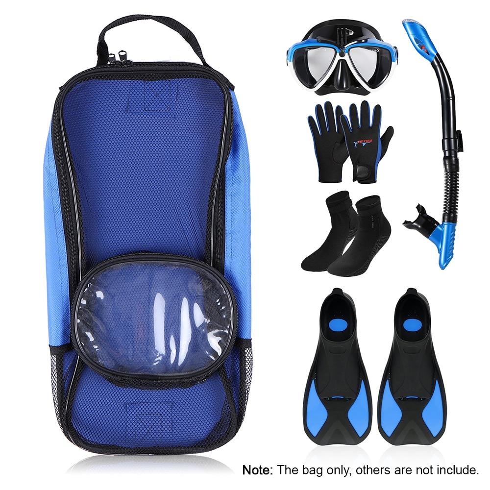 Diving Flipper Storage Holder Snorkelling Fins Packing Bag Diving Mask Bag Snorkel Storage Holder Snorkeling Surfing Diving Gear
