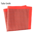 Tailor Smith Pure Natural Silk Printed Designer Hanky Pocket Square New Fashion Style Handkerchief Luxury Men's Formal Accessory