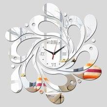 reloj de pared Часы Новые настоящие часы украшения дома настенные наклейки зеркало акриловая гостиная