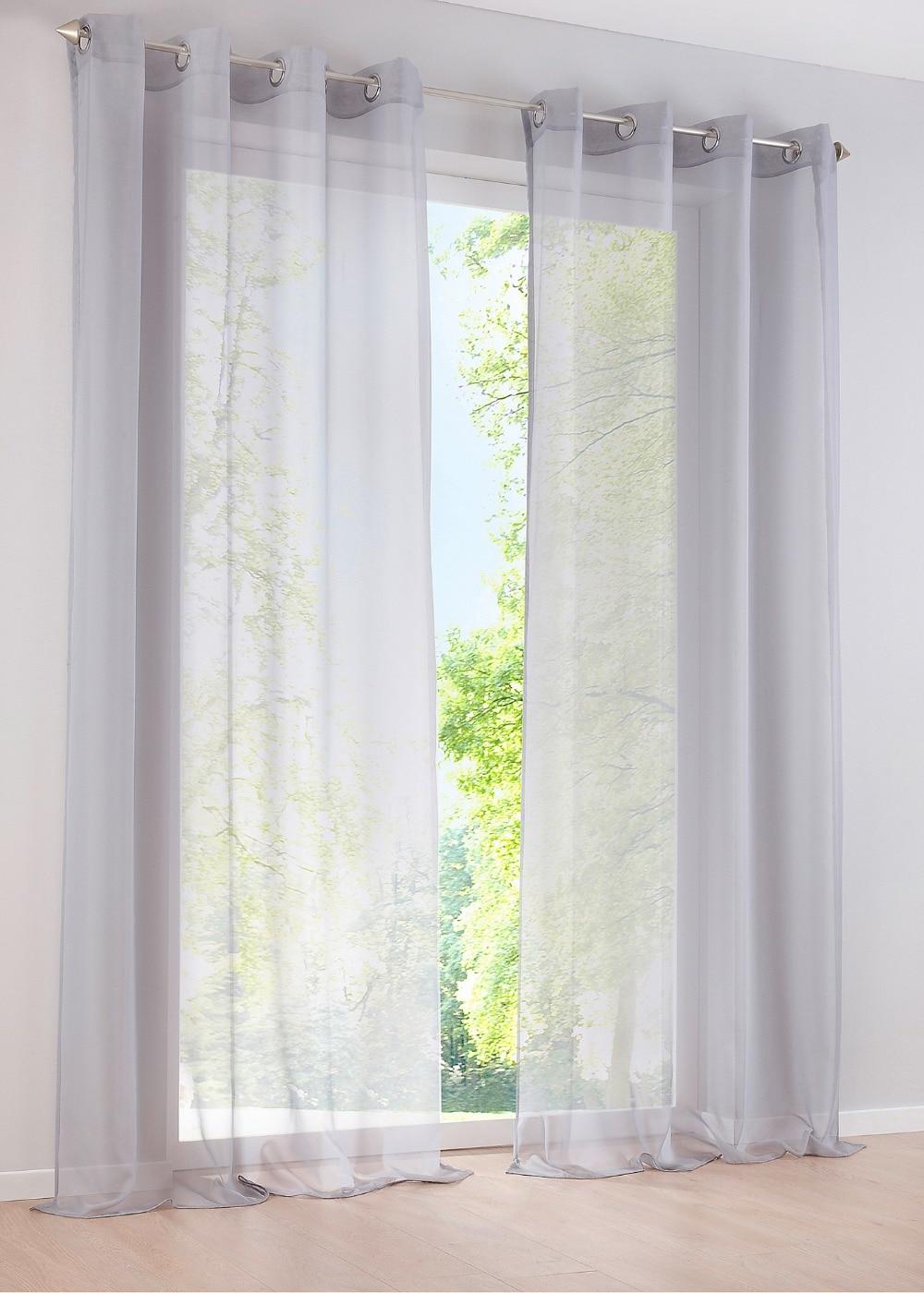 Pantalla de ventana personalizada de hilo de alta densidad para ventanas de dormitorio y sala de estar de tul Multicolor, panel transparente