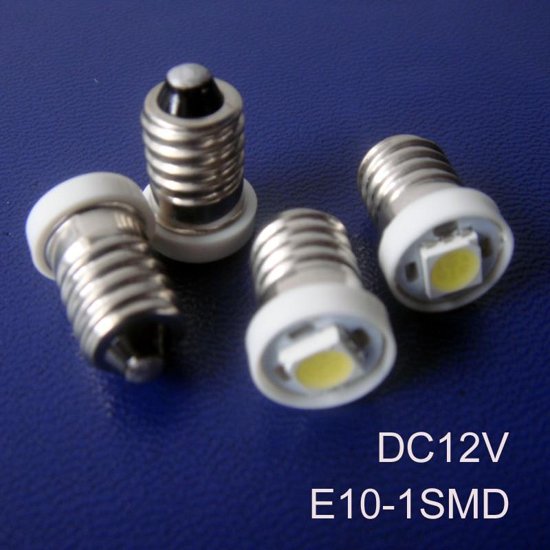 High quality 12V Led E10 bulb,Car E10 Led Instrument light,Led E10 Pilot Lamp,E10 Led Indicator Lamp free shipping 10pcs/lot