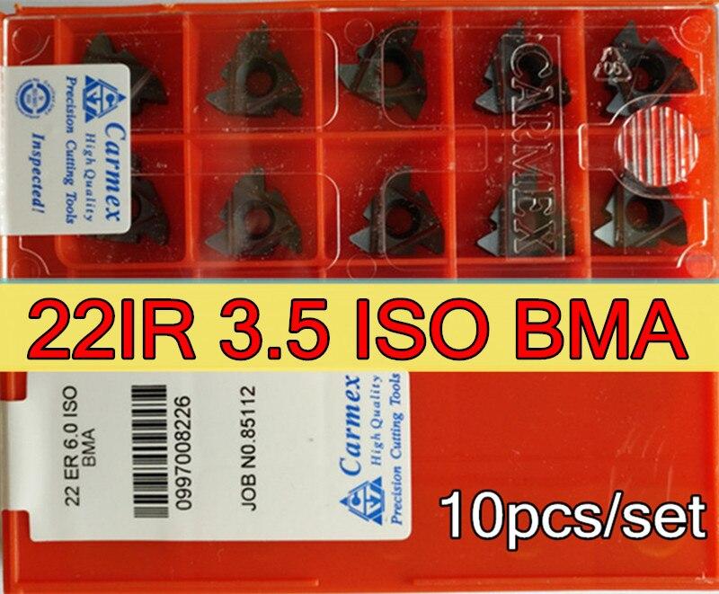 22ir 3.5 iso bma 10ピース/セットcarmex cnc雌ねじカーバイド挿入加工ステンレス鋼と鋼送料無料  グループ上の ツール からの ターニングツール の中 1