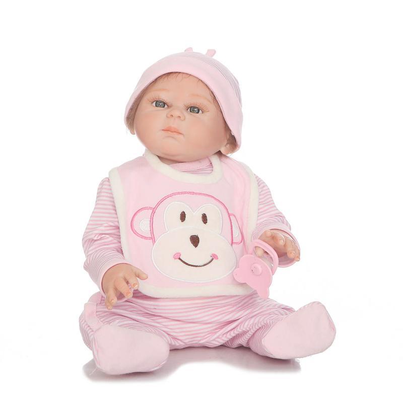 NPKDOLL 50 cm corps complet Silicone Reborn poupées réaliste bébé garçon fille poupées reborn bebe Boneca Reborn Realista enfant jouets cadeau - 2