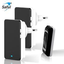Plug-in Wireless Door Bell US/EU Plug  36 Chimes with 1 Ourdoor Transmitter 2 Indoor Receiver Push Button цены онлайн