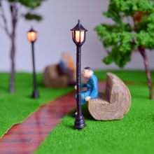100PCS/LOT miniature scale model street light for architectural lamppost